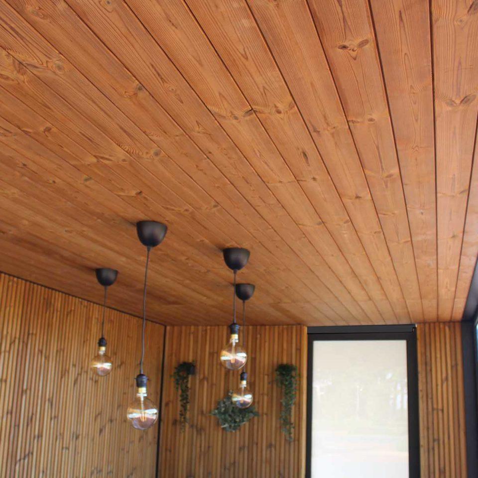 pergola toit en bois