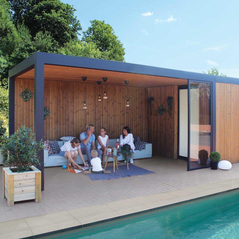 pergola toit fixe piscine